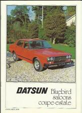 DATSUN BLUEBIRD RANGE SALES BROCHURE JANUARY 1979