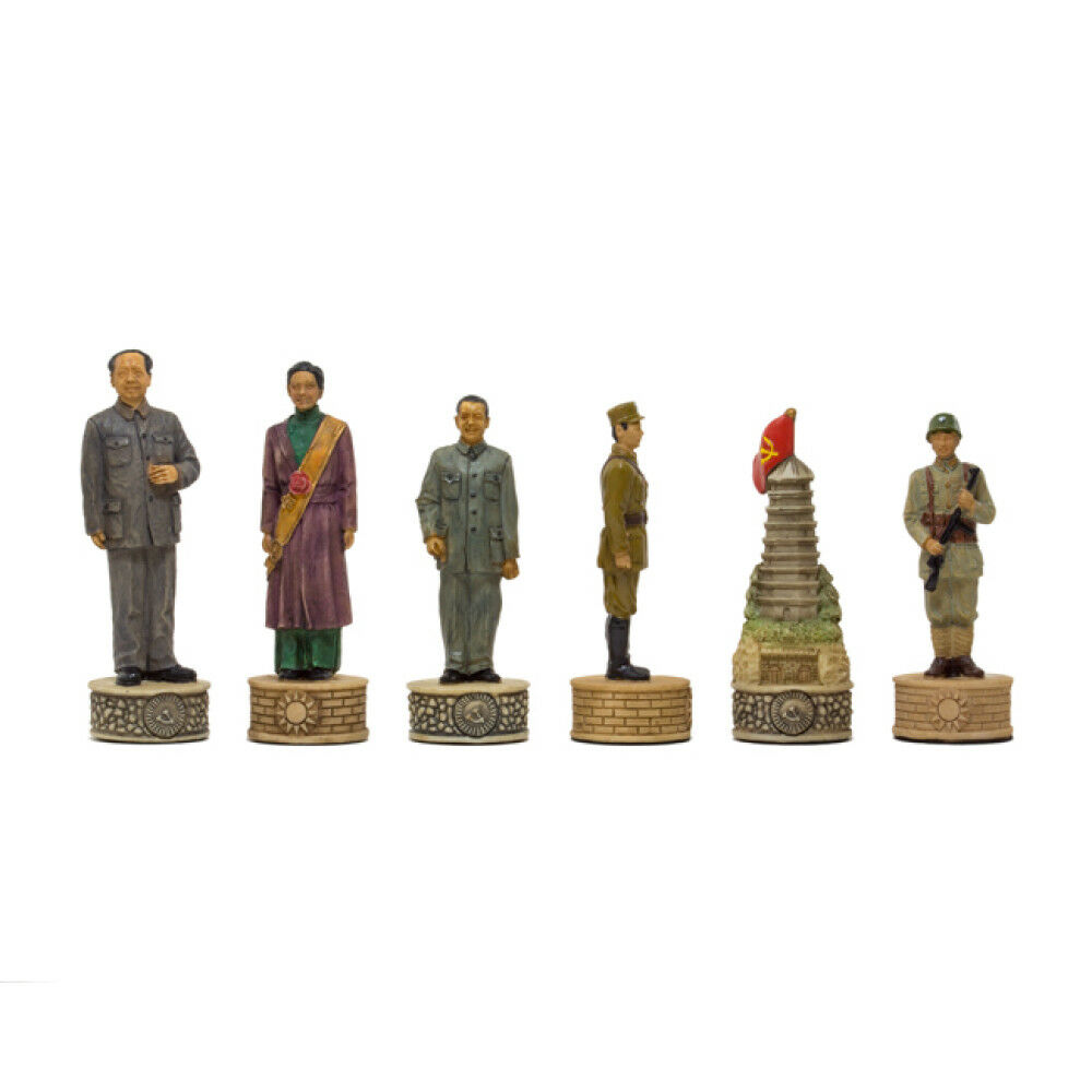 The Mao Tse Tung Hand painted themed themed themed chess pieces by Italfama 02493a