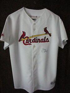 New Majestic St Louis Cardinals Signed Jersey Tony Larussa Boy S Xl Coa Ebay