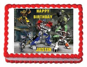 Transformers Prime Edible Party Cake Topper Cake Image