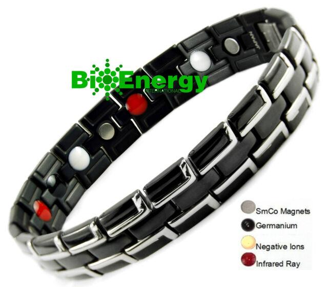 PURE TITANIUM Magnetic Energy Germanium  Power Bracelet Health 4in1 Bio Armband