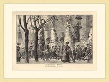 Der Sommertagszug in Heidelberg von Heinrich  Kley HOLZSTICH II 568