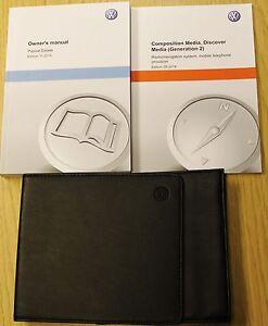 GENUINE VW PASSAT B8 2014-2019 OWNERS MANUAL DRIVERS HANDBOOK BOOK ...