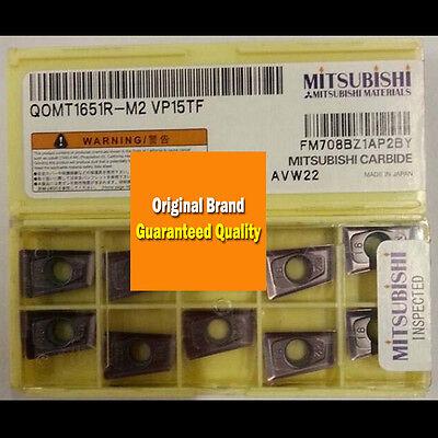 New MITSUBISHI CNC Blade QOMT1651R-M2 VP15TF Carbide Insert 10PCS//BOX