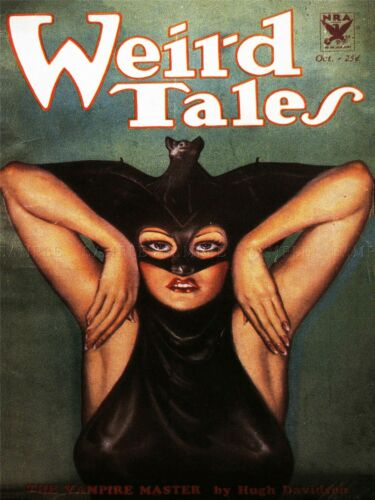 COMIC BOOK COVER WEIRD TALES VAMPIRE WOMAN BAT USA ART POSTER PRINT LV1404