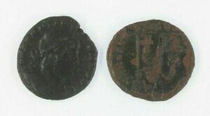 Ancient-Roman-2-Coin-Lot-Emperor-Valens-AE3-amp-Emperor-Constantius-II-AE3-4