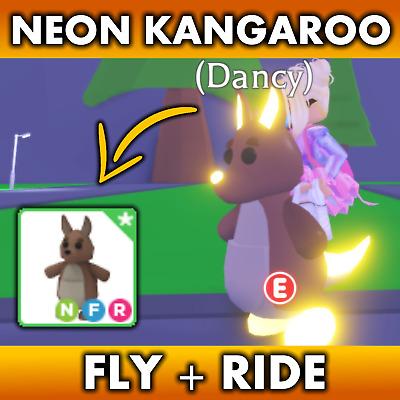 Adopt Me Roblox Neon Kangaroo Fly Ride Best Price