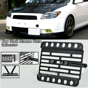 Scion Tc Front License Plate >> For 05 10 Scion Tc Front Tow Hook License Plate Relocated Mount