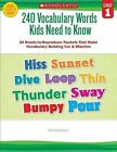 240 Vocabulary Words Kids Need to Know, Grade 1: 24 Ready-To-Reproduce Packets That Make Vocabulary Building Fun & Effective by Kama Einhorn (Paperback / softback)
