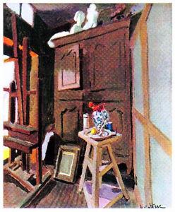 MATISSE-1939-LITHOGRAPH-w-COA-UNIQUE-PRESENT-or-GIFT-of-Henri-Matisse-RARE-ART