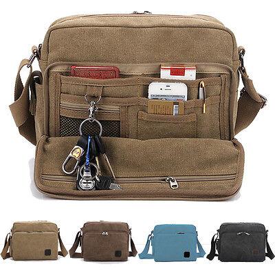 New Men's Multi-function Canvas Shoulder Messengers Handbag Satchel Bags AB190