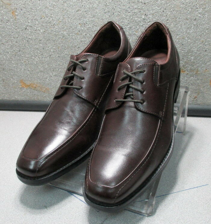 428139a9a7e 209786 MS50 Men s shoes Size 9.5 M Dark Brown Leather Lace Up Johnston    Murphy
