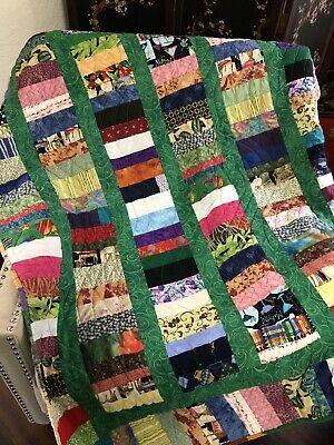 Quilted Lap Quilt Throw Blanket Bed