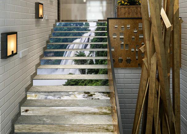 3D Groß Wasserfall6 Stair Risers Dekoration Fototapete Vinyl Aufkleber Tapete DE