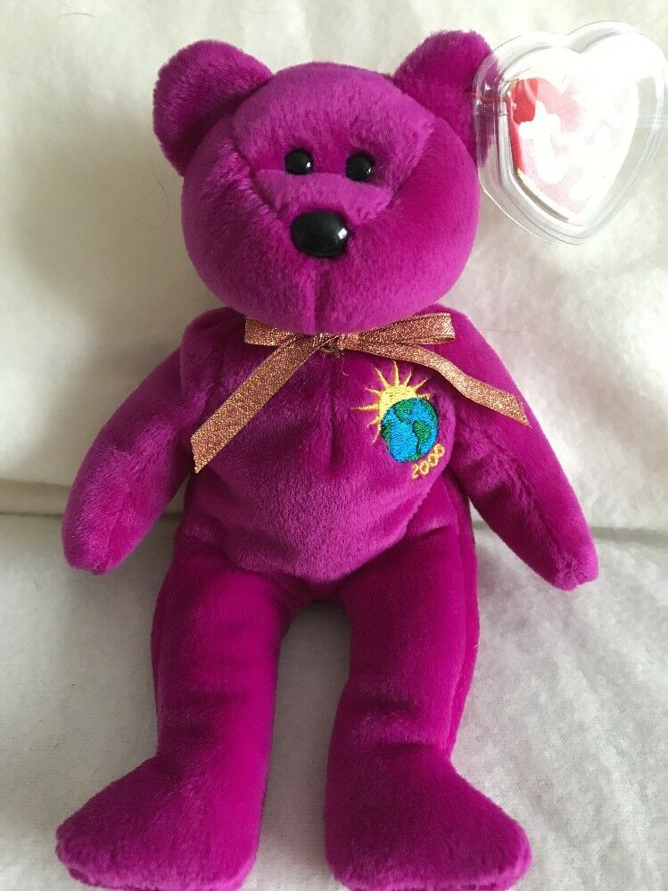 Original ty beanie baby Rare Version Millennium Bear