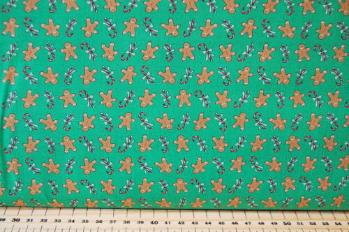 Moda Sugar Plum Christmas Holly//Reindeer//Gingerbread Man Cotton Fabric by the FQ