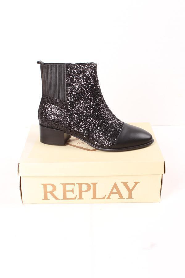 REPLAY RN270003S Emerald schwarz, Schuhe für Damen, Schwarze Stiefeletten