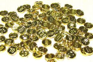 LEGO LOT OF 100 NEW RARE PIRATE CHROME GOLD COINS TREASURE PIECES