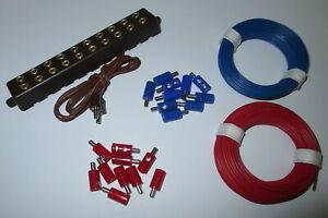Stecker-Litzen-und-Verteilerleiste-mit-Stecker-NEU