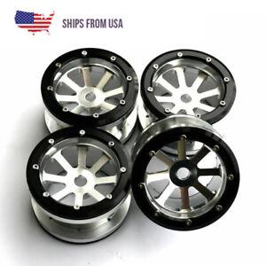 "4PCS 1//10 RC AXIAL Wraith Wheels 2.2/"" 5-Star ALUMINUM Beadlock Wheel Rim GREEN"