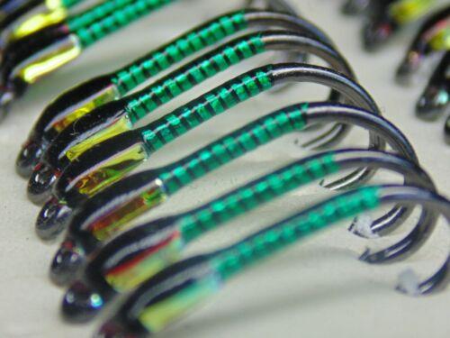 3 x Black and Green hollo buzzers traffic light cheeks Size 10Buzzers Flies