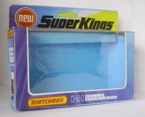 REPRO BOX MATCHBOX SUPERKINGS k-24 Scammel containertruck