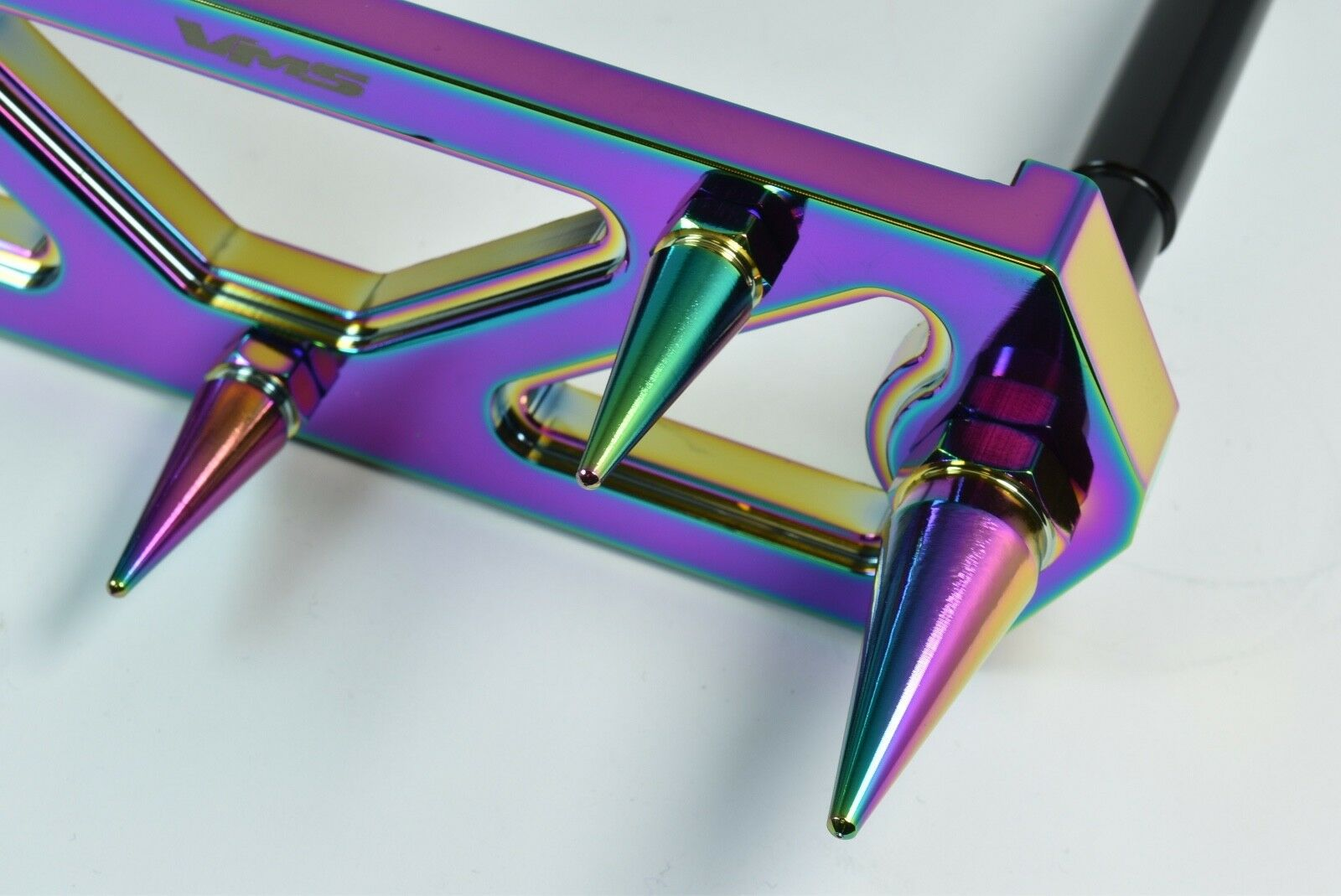 VMS RACING NEOCHROME SPIKED BATTERY TIE DOWN BRACKET BRACE KIT W// RODS FOR ACURA