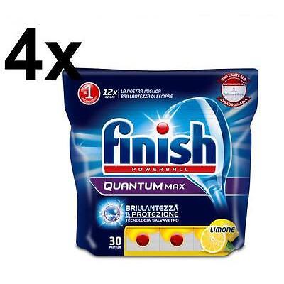 FINISH Kit 120 pastiglie lavastoviglie Quantum Max Lemon (465 gr a conf)