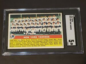 1956-Topps-251-New-York-Yankees-SGC-5-New-Label-Recently-Graded-PSA-BVS