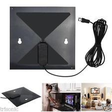 Digital HDTV Antenna Indoor clear TV Thin as a Leaf UHF VHF HDTV 1080P Flat