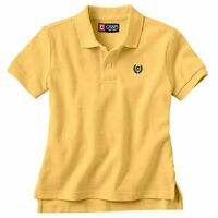 $22 Chaps Toddler Boys 3t Short Sleeve Polo Shirt Yellow Navy Uniform 31015