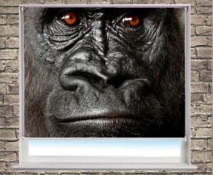 Digital-Print-Photo-Roller-Blind-the-silverback-gorilla-Animal-blackout-blind
