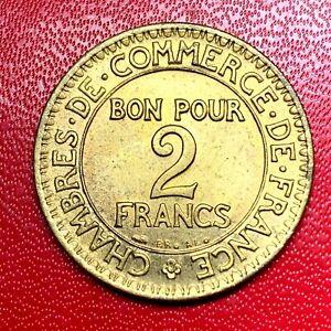 2635-RARE-2-francs-1923-CDC-Chambre-de-commerce-SUP-SPL-FACTURE