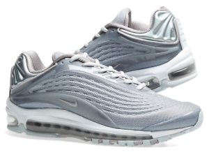 Mens Nike Air Max Deluxe Grey White - rare color -Size Men's 11.5