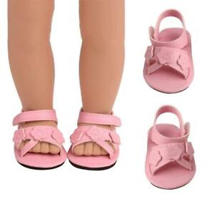 Casual-Boots-Shoes-For-18-Inches-Born-Baby-Doll-Girl-Shoes-PU-Dolls-Sport-F3N1