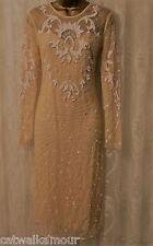 ASOS Red Carpet Premium Ergonomic Embellished Mesh BodyCon Fit Party Dress 12 40