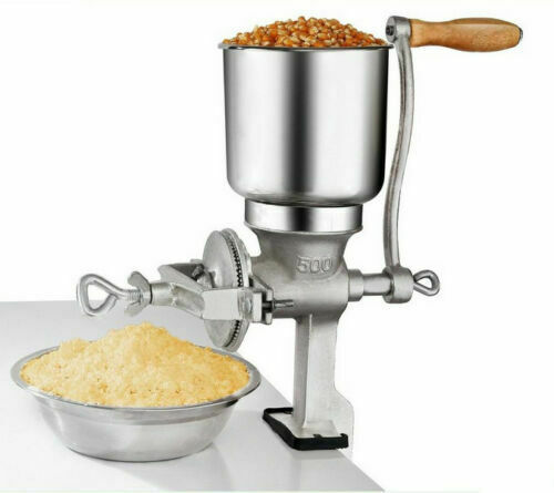 Manual Grinder Flour Mill Hand Coffee Grinding Machine Feed Corn Nuts Palm Crank