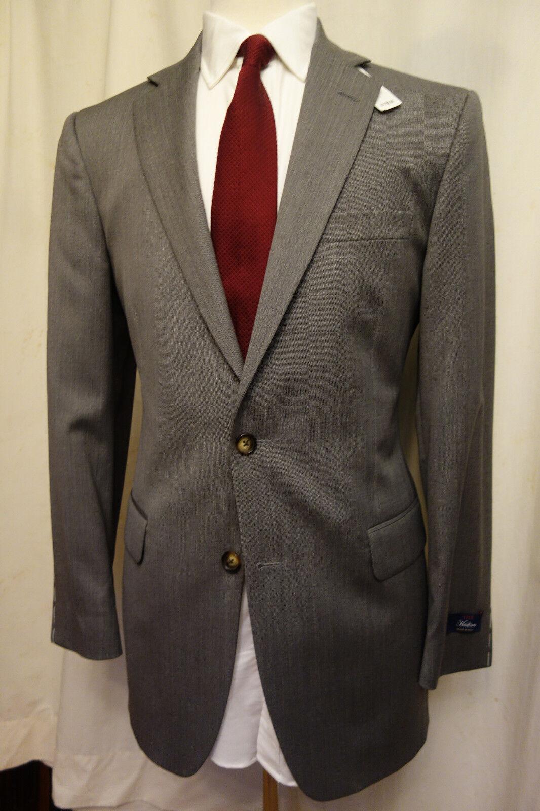 NWT Brooks Brothers 1818 Madison grau Drago Wool Suit 39L  Retail 1198