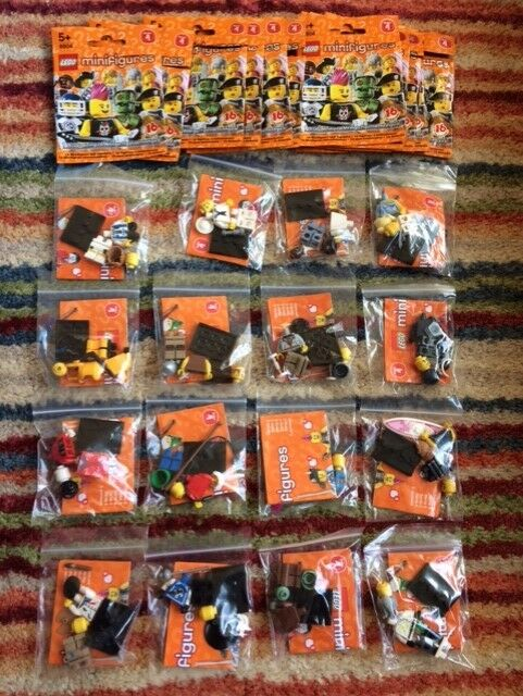 COMPLETE SET OF LEGO MINIFIGURES SERIES 4 (8804) NEW