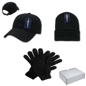 DECKY-Winter-Essentials-Gift-Boxed-Set-for-Men-Cotton-Dad-Hat-Beanie-Gloves