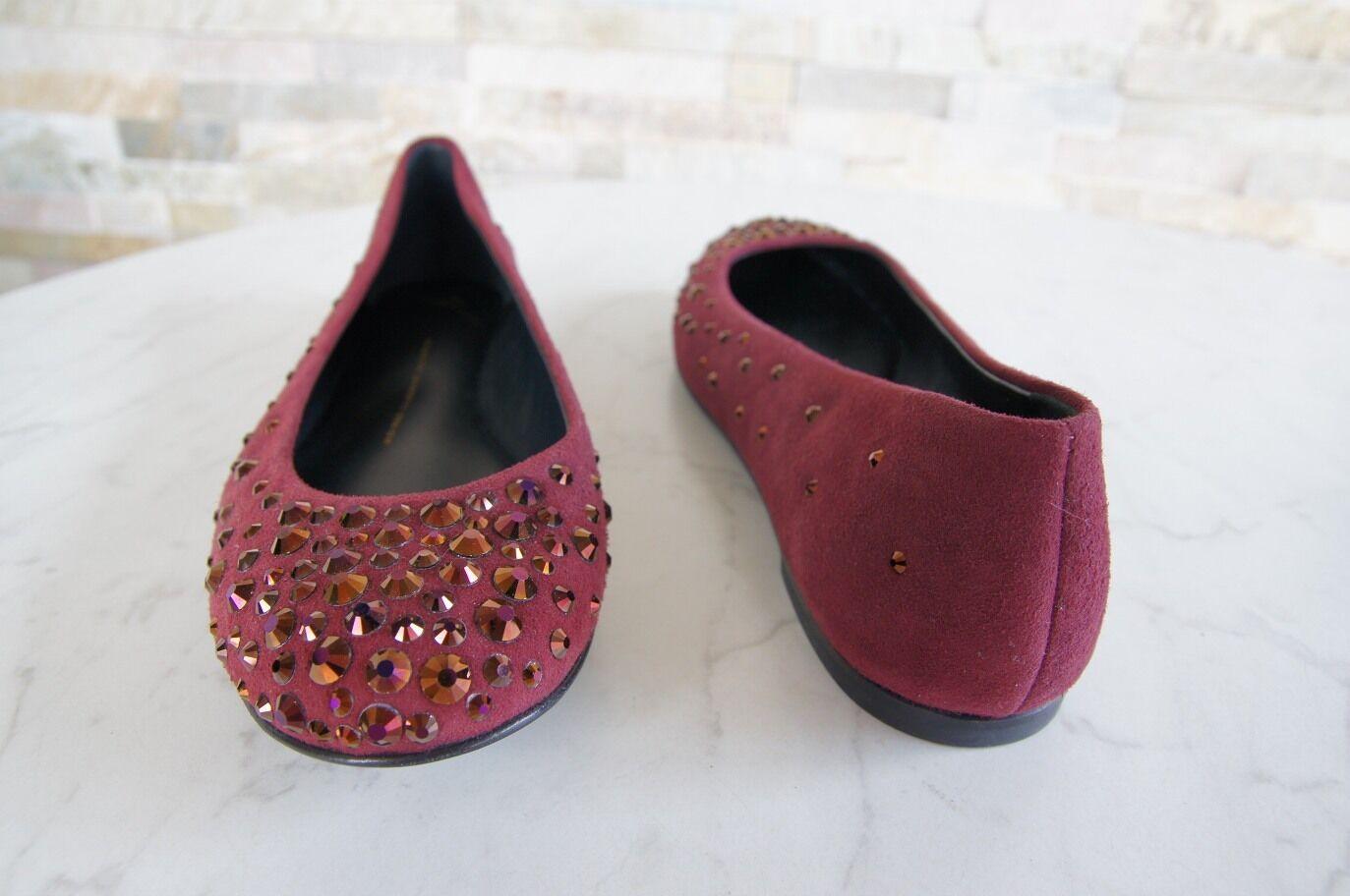 Giuseppe Zanotti Gr 37,5 Ballerinas I26123 Schuhe schuhe schuhe Schuhe pinot ROT NEU 1705fd
