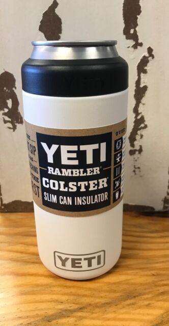 YETI Rambler Colster Slim Can Insulator White Koozie