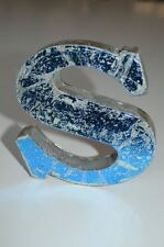 FANTASTIC RETRO VINTAGE STYLE BLUE 3D METAL SHOP SIGN LETTER S ADVERTISING FONT