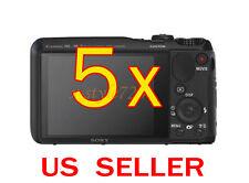5x Sony CyberShot DSC-HX30V Clear LCD Screen Protector Guard Shield Film