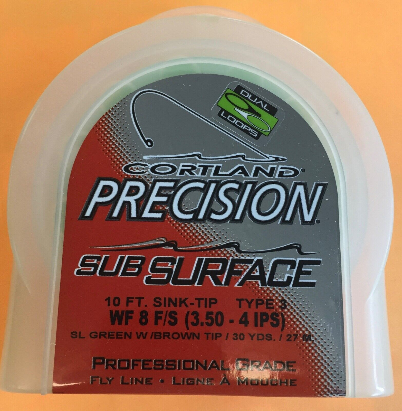 Cortland Precision SubSurface WF8F S (3.5-4. IPS)  10 ft sink tip type 3 Fly Line  fast delivery and free shipping on all orders
