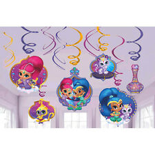 Shimmer and Shine Hanging Swirl Decorations 12pc