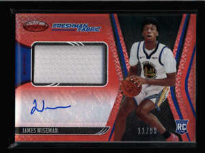 JAMES WISEMAN 2020/21 PANINI CERTIFIED ROOKIE RED JERSEY AUTO #11/99 FC8154