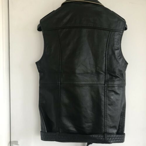 Biker Une Leather Black Fiele Vest By 5wgx8qR