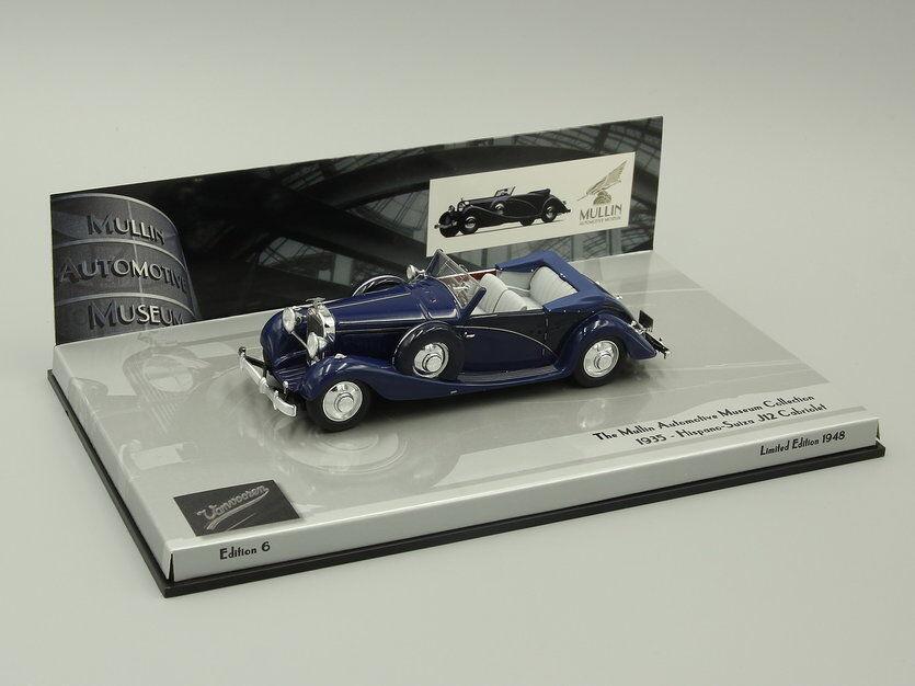 Minichamps 1 43 Hispano Suiza J-12 1935 Azul