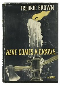 Fredric-Brown-Here-Comes-a-Candle-FIRST-EDITION-1950-GOOD